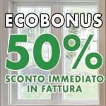 50% SCONTO IN FATTURA CON CESSIONE DEL CREDITO